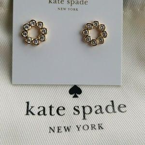 New! Kate Spade Gold Full Circle Earrings